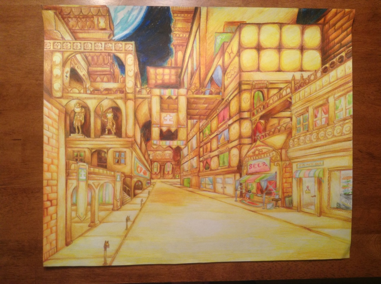 My linear perspective project is finished!!! I might try to get better pictures later and maybe fix …