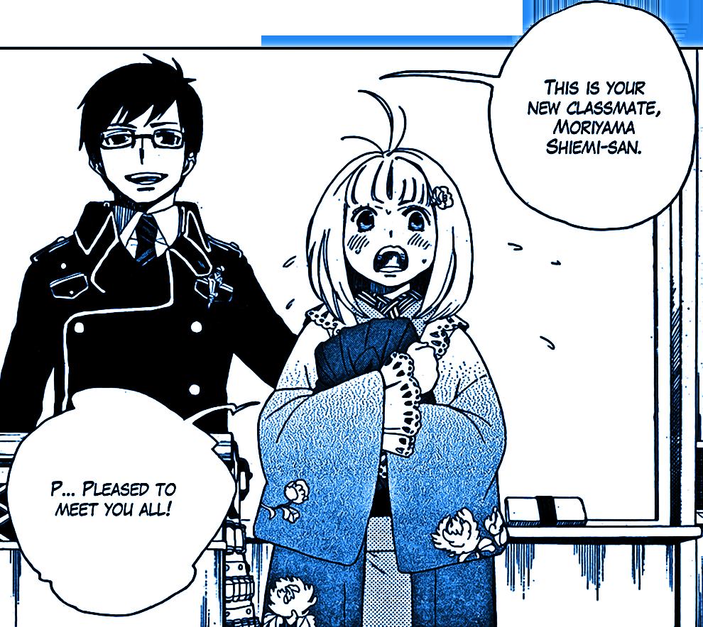 #ao no exorcist #ane#blue exorcist#moriyama shiemi#okumura yukio#manga#anime