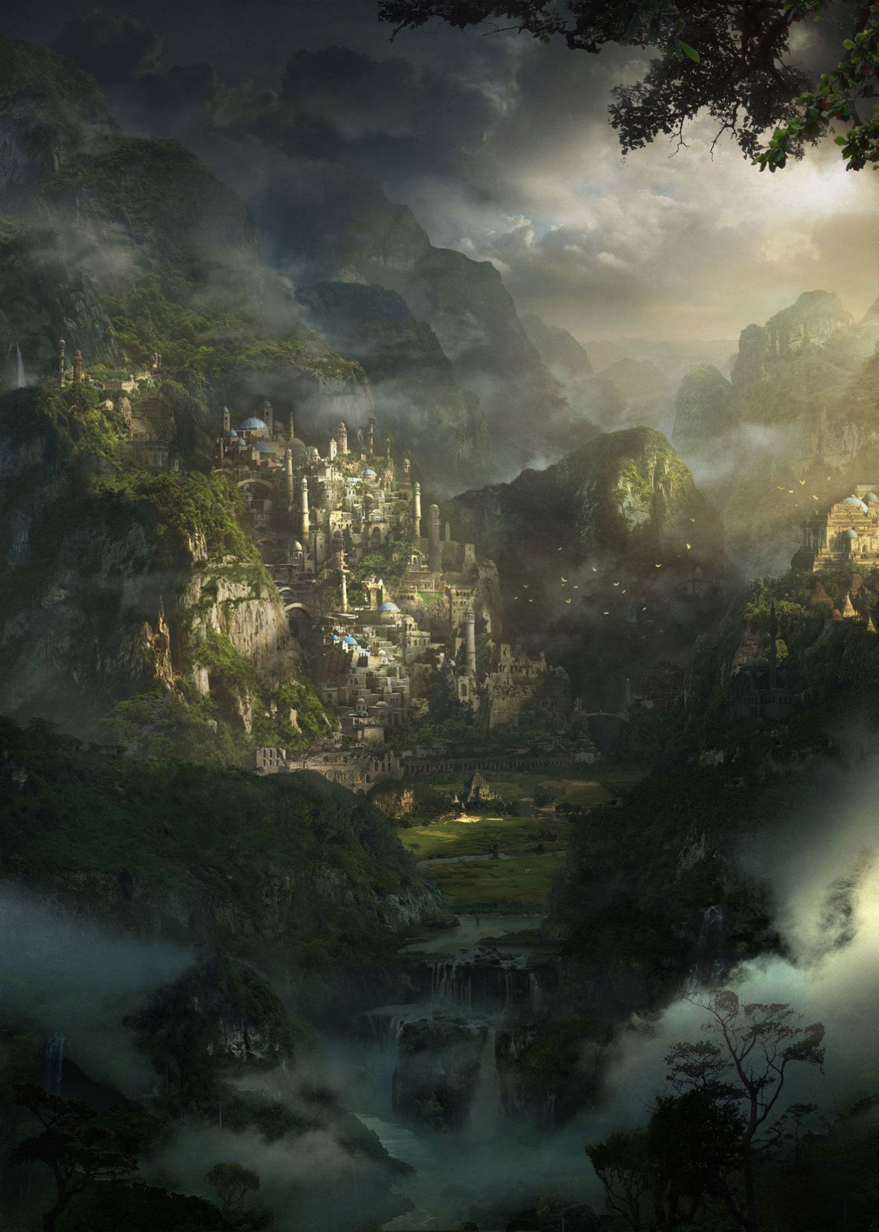 Fantasy Art Engine Castle In The Mist By Mohammad Ahmadvand