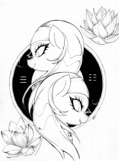 yin and yang twins | Tumblr