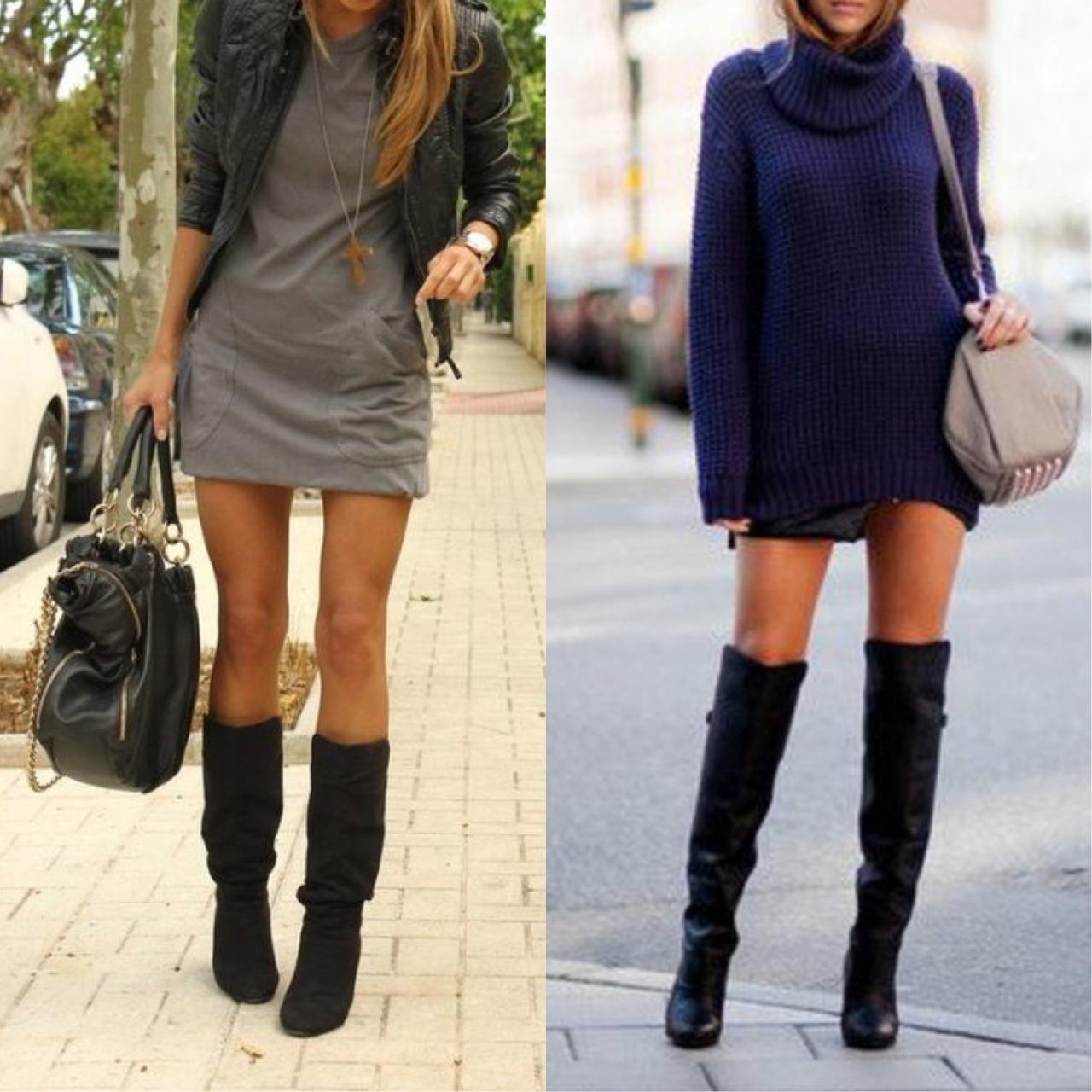 Botas altas para piernas delgadas | Botas de mujeres piernas