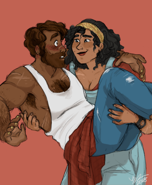 lilahkaminsky:  i wanted to pin down a julia design so!!!!! obligatory jules carrying magnus like a Wittle Babey postko-fi! | commissions! #GOOD post op!!!!