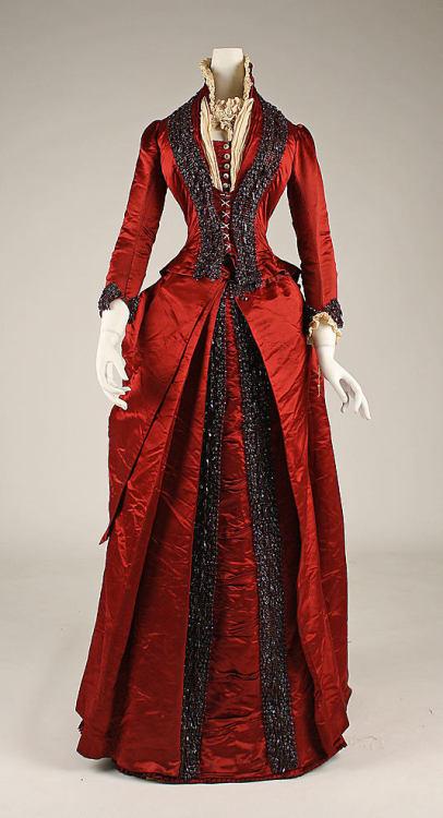 lacedheartt 19th century victorian 19th century fashion victorian fashion victorian dress 19th century dress red dress beautiful dinner dress 1870& 039;s late victorian era red