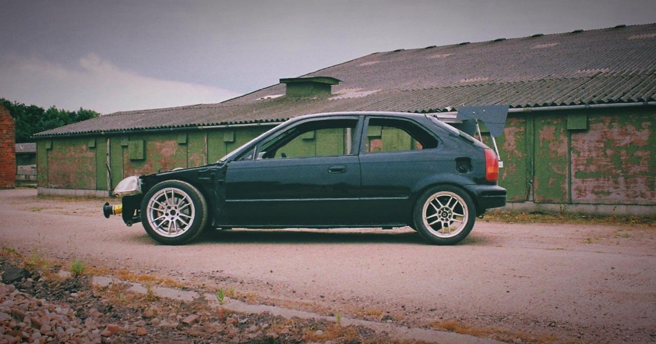 downchange — Josh Lawton's K24 Civic Hatch