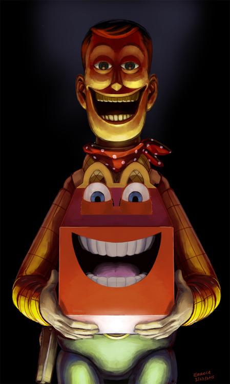 creepy toy story sheriff woody horror disney pnma