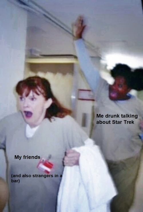 star trek st voyager st tos kathryn janeway spock kirk janeway x chakotay spirk i talked about all these things in many people i knew and i didn& 039;t know i felt like this a lot thanks oitnb for this scene btw