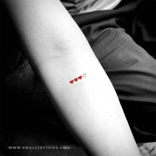 Loading hearts temporary tattoo, get it here ►... heart;love;temporary