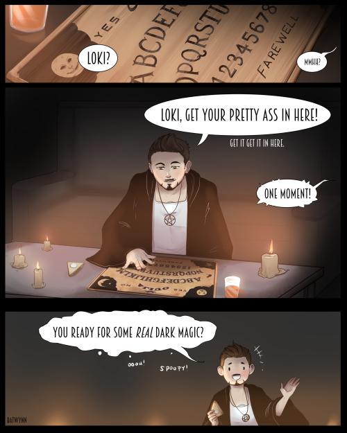 Frostiron Ironfrost Loki Tony Stark Dark magic Ouija board sorry Clint Betsy will return