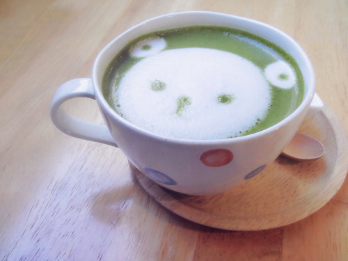 green tea green tea latte cafe coffee art cafe maji cute korean