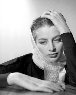 wehadfacesthen:  Capucine, 1953, photo by Georges Dambier