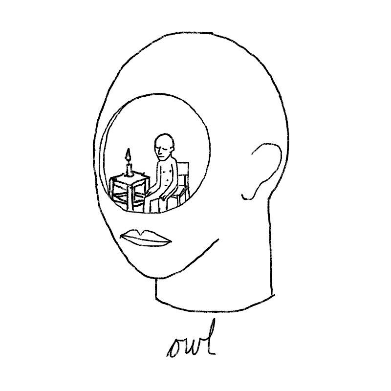 owl #owl#candle#hole#sit#meditation#night#illustration#minimalist#art#drawing#everyday#20200402#catswilleatyou #artists on tumblr