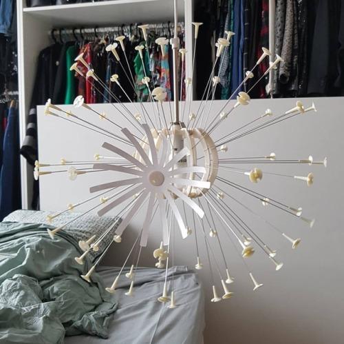 Montage Du #lustre #Maskros #Ikea / 80 #petitesfleurs Plus Tard  #lustremaskros #lustreikea #jolilustre #luminaire #déco #décoration  #cheznous #homesweethome ...
