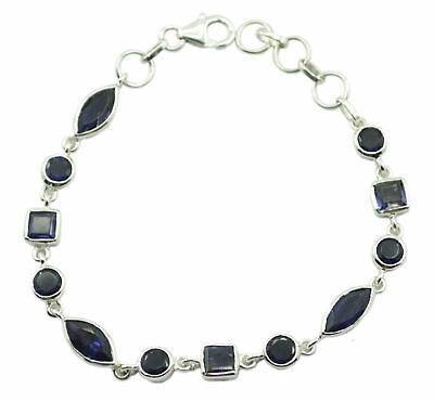 cute Iolite 925 Sterling Silver Blue Bracelet genuine supplies US gift https://ift.tt/2JQd6xk  #fashion  #artificial #Jewelry#RiyoGems
