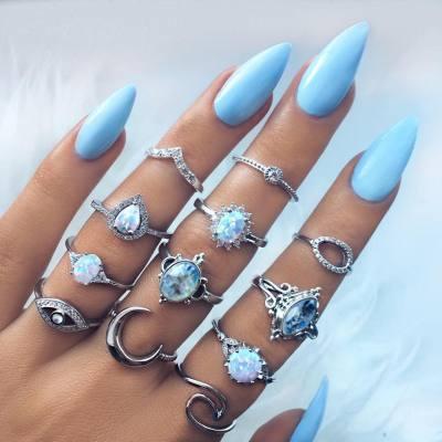 Blue Nail Art Design Tumblr