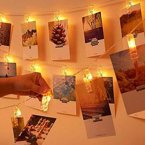 40 LED photo Clips, Guirlande lumineuse blanc Chaud, SiFar 5 min 3 s Modes Photo chaîne Légère avec Batterie de THE TWIDDLERS