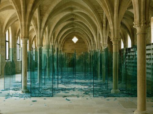 """Sea of broken glass"" and ""Porto"" byClaudio Parmiggiani"
