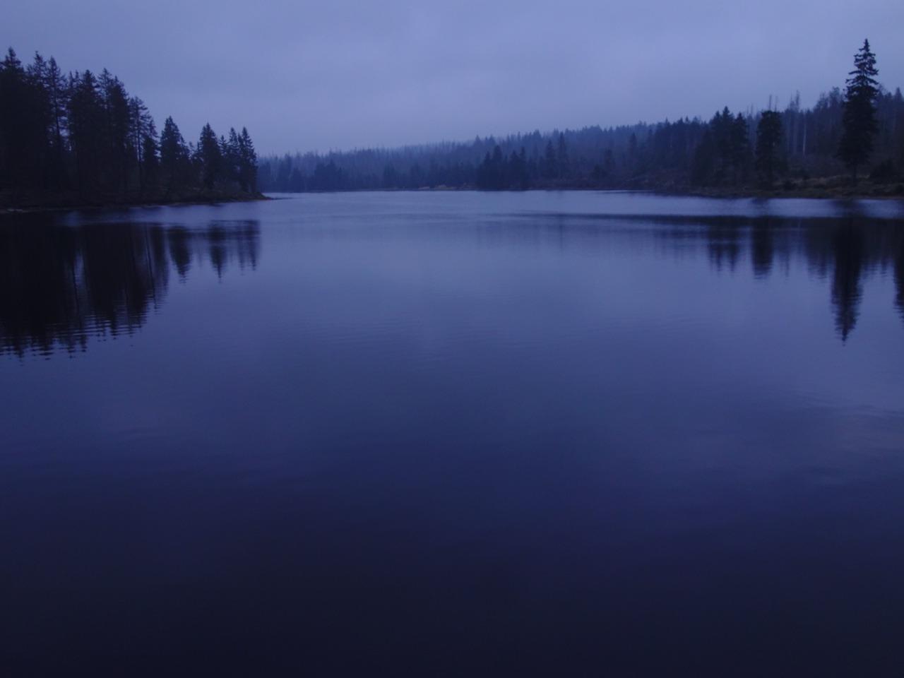 Blaue Stunde am Oderteich