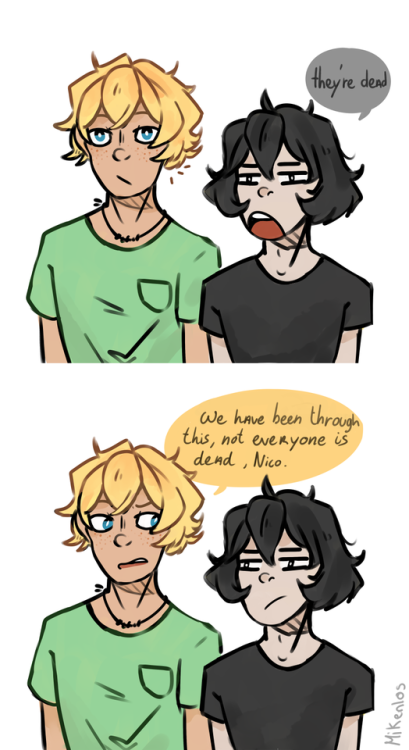 magnus chase Nico di Angelo alex fierro will solace myart my art art incorrect quotes magnus chase and the gods of asgard mcga quotes comic paint tool sai paint PaintToolSAI sai digital digital art rick riordan pjo percy jackson hoo