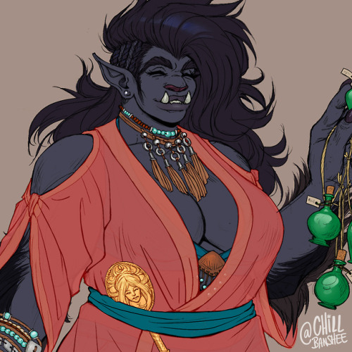 dnd dungeonsanddragons bugbear female monk art digital art procreate photoshop Dungeons and Dragons procreateapp