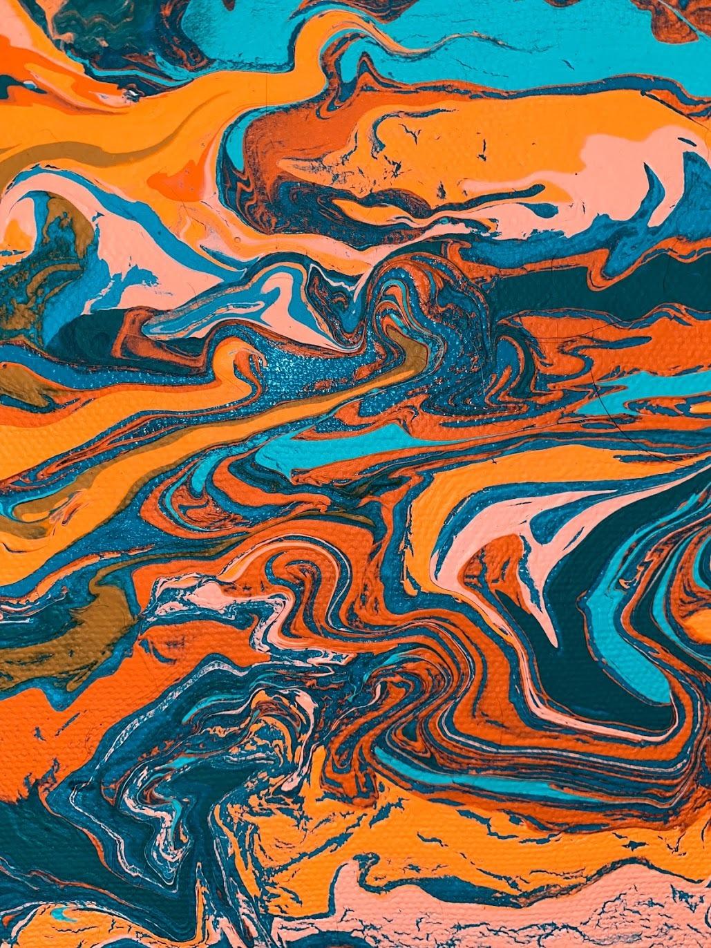 #art#emotion#orange#blue#acrylic painting#painting#artist#colors#waves#contemporary art#artistsupport#modern art#surealism#surealart#sureal#ocean#colorful#rainbow#motion#my art#acrylic