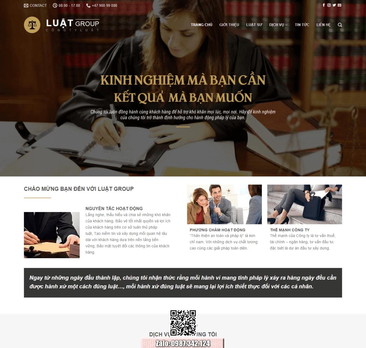 Mẫu web công ty luật thumbnail
