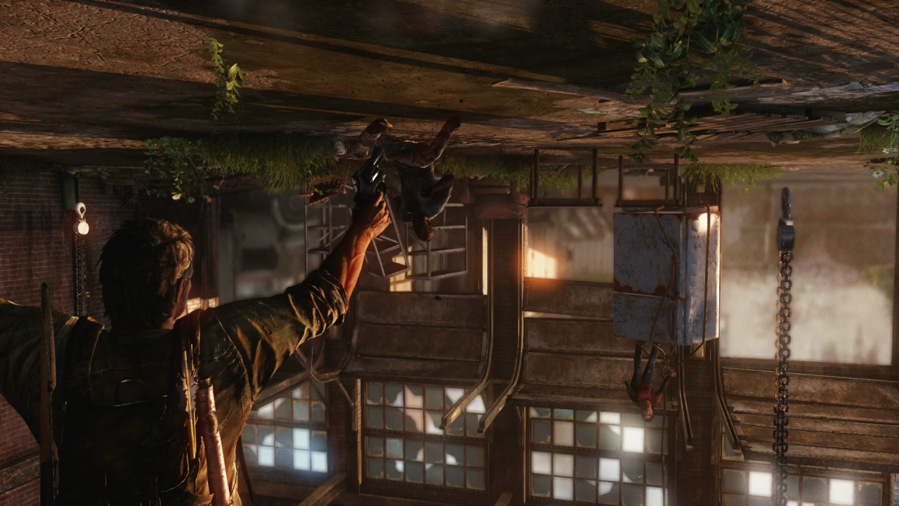 Taking a whack at this grounded mode…no turning back now #the last of us #joel#ellie#grounded#ps4#naughty dog#remastered #no turning back #oh boy#tlou