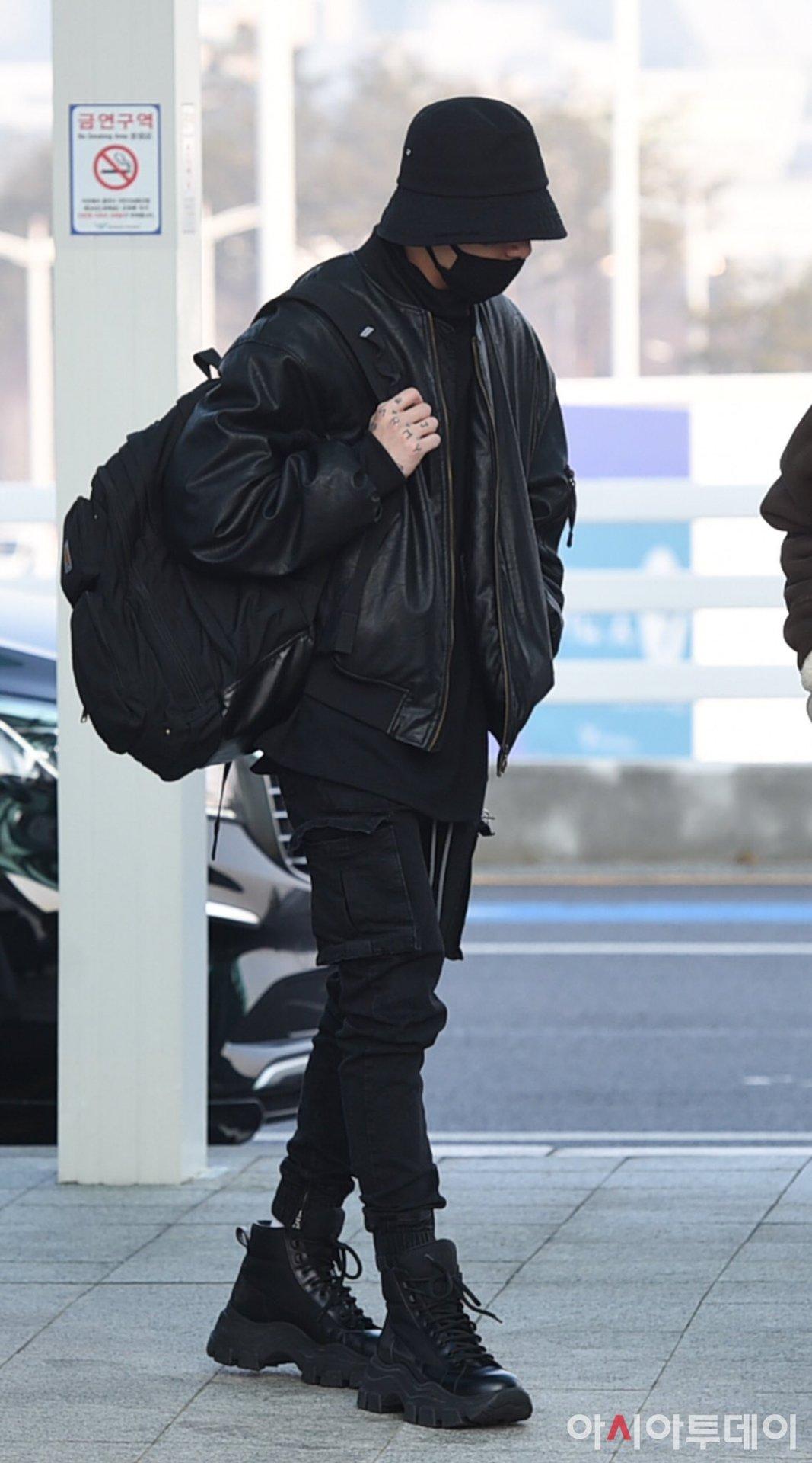 Airport Fashion — Jungkook - February 20th 2020