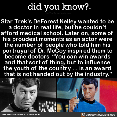 star-treks-deforest-kelley-wanted-to-be-a-doctor