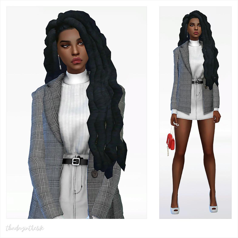 "Dress - ""Short Coat Set 01″ by @newen092  Shoes - ""Lilia JoshQ Heels Conversion"" by @cooper322 Hair - ""Lana Locs"" by @savvysweet  Handbag - ""Mina"" by @theslyd  Earrings - ""Elegant Earrings"" by @4w25-cc #sims #sims 4 cc #sims 4 #sims 4 hair #s4 download#s4cc#ts4 cas#ts4cc#newen092#cooper322#savvysweet#theslyd#4w25-cc"