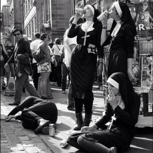 sins b&w b&w photo b&w photography black and white black and white photography black and white photo nun nonbeliever noreligion blasphemy