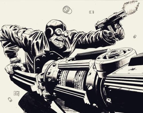 heroescon art momswholift hellboy drawing collection comics ink artist lobsterjohnson spiritual originalart