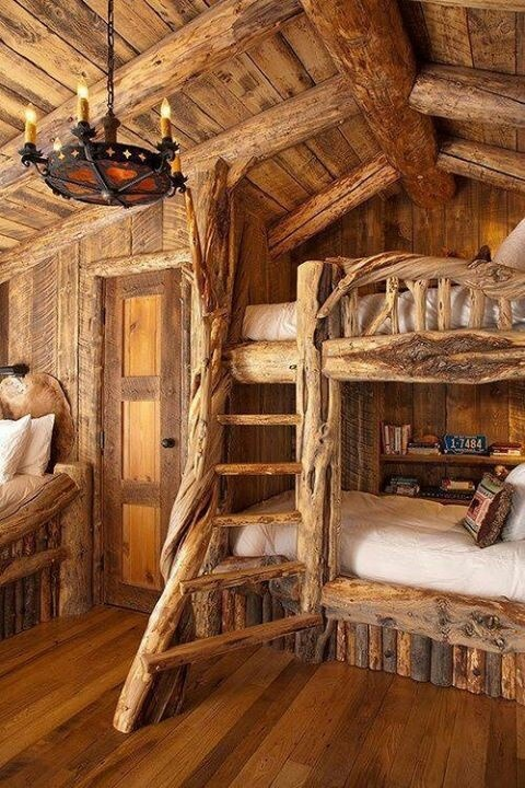 Reminds me of a wood cabin (: