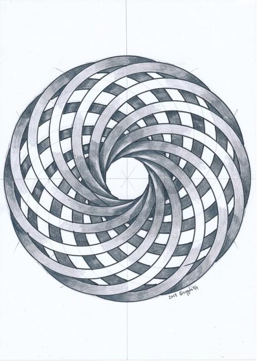 toroid torso torus geometry symmetry handmade mathart regolo54 circle disk