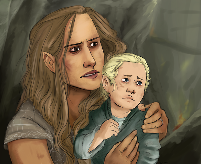 Art Is okay... — Legolas and his mother escaping Gundabad ...