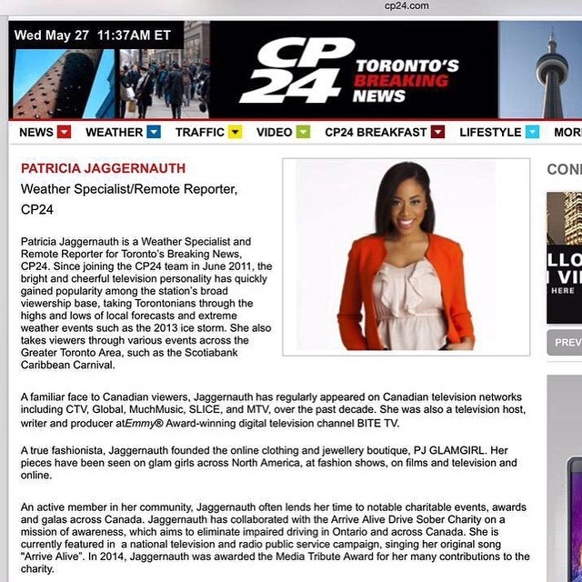 Patricia J  — My CP24, Toronto's Breaking News biography is now
