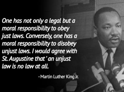 Image result for we have a moral obligation to disobey unjust laws