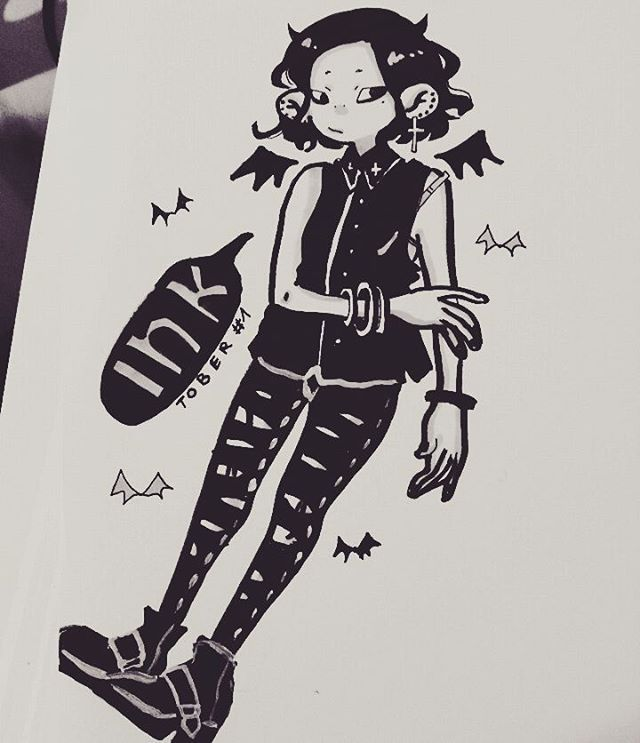 It's #inktober and  i am not sick anymore !!