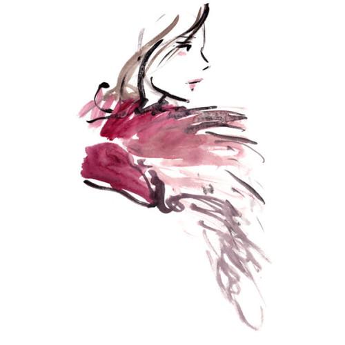 London Fashion Week Fw15 Live Runway Sketching Portfolio Liked On Polyvore