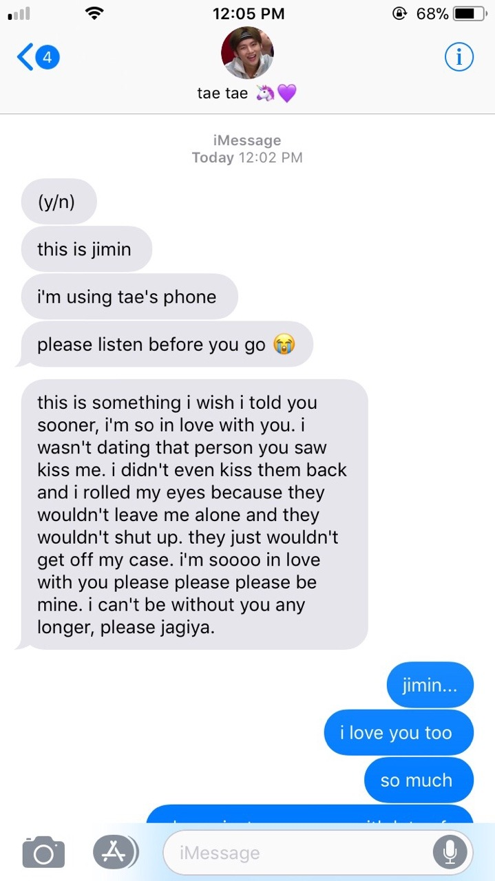 🍒 — | JIMIN FAKE TEXT | friends to lovers
