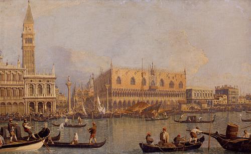 laclygrantham:  Veduta del Palazzo Ducale di Venezia, c. 1750s. Canaletto