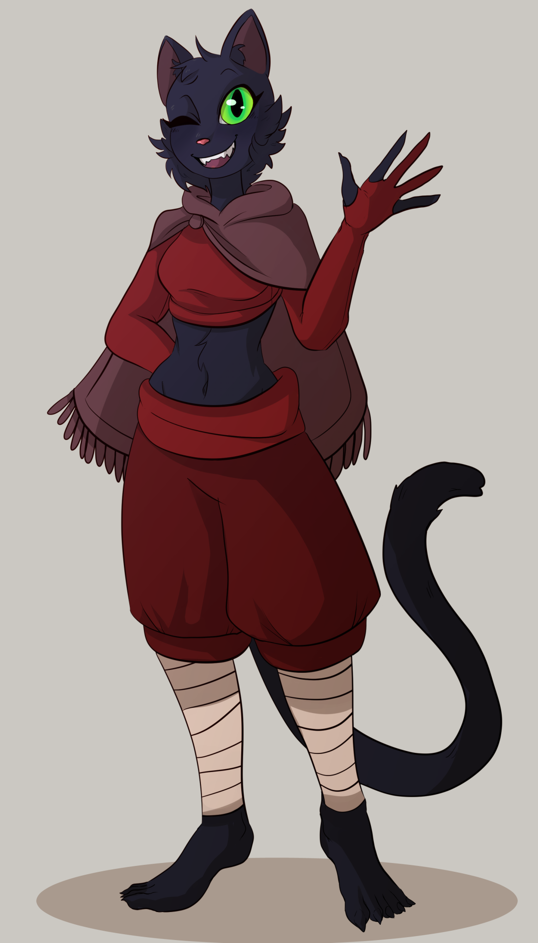 Been working on improving/refining my style. So here's my Way of the Shadow Tabaxi Monk, Pepper!! #dnd#d&d #Dungeons and Dragons #tabaxi#monk