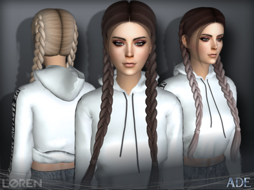 Sims Braided Hair Tumblr