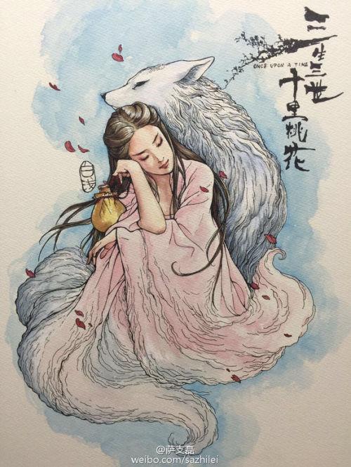 yang yang liu yifei crystal liu ye hua crown prince ye hua bai qian su su once upon a time three lives three worlds ten miles of peach blossoms cmovie
