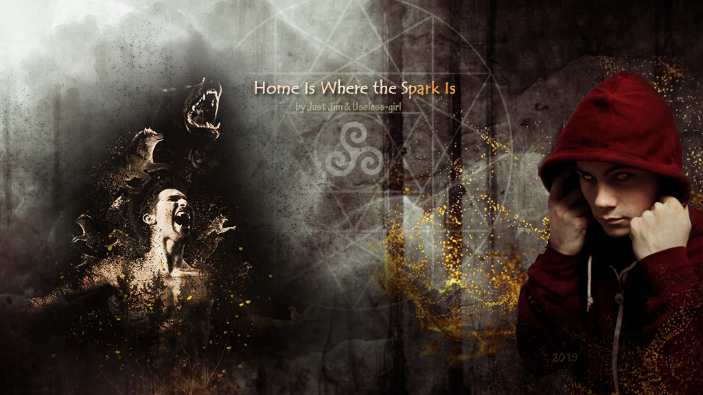 Home Is Where the Spark Is (series)by JustJim & Useless-girl  Home, Sweet Home Fandoms: Teen Wolf, Sterek Characters/relationships: Stiles Stilinski/Derek Hale, Sheriff Noah Stilinski, Lydia Martin, Melissa McCall, Alan Deaton, Scott McCall, other TW characters, original characters Rating/category: R (explicit), supernatural AU, post-Teen Wolf, canon and non-canon elements, slash, M/M, Sterek, aged up characters, established friendship, Spark Stiles, Magic Stiles, Emissary Stiles, Emissary in training Stiles, detective Stiles, matured Stiles, Alpha Derek, switch Derek, switch Stiles, occasional light BDSM and Dom/sub relationship, drama, epic romance, love, hurt/comfort, angst, dark, violence, fighting, magic, blood, gore, rough sex, heat cycle, dubious consent, accidental biting, PTSD, panic attacks, insanity, fluff, smut, knotting, soulmates, Mate bond, Emissary bond, Derek has a daughter, domestic life, werewolves, demons, witches, witchcraft, druids, rituals, pack building, supernatural creatures, humor, wit, sarcasm, Derek is Derek, Stiles is Stiles, miscommunication, werewolf lore, mysteries Summary: A few years after defeating Gerard with the McCall pack (which had mostly scattered with time), Stiles had decided to settle in San Francisco as a successful detective. But a much needed visit to his dad back in Beacon Hills and an unexpected guest in the house changes everything in the two weeks he stays at home on their couch. ——————————————— To read the story on AO3, please, click HERE! #sterek#teen wolf #teen wolf and sterek moods #stiles stilinski#derek hale#magic stiles#emissary stiles#alpha derek#slash#romance#hurt/comfort#fanfiction#sterek fanfiction#justjim#useless-girl