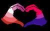 butchspace:lesbian-bi girl solidaritysticker!