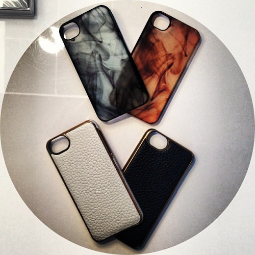 Digging these see-through & leather iPhone cases from Adopted