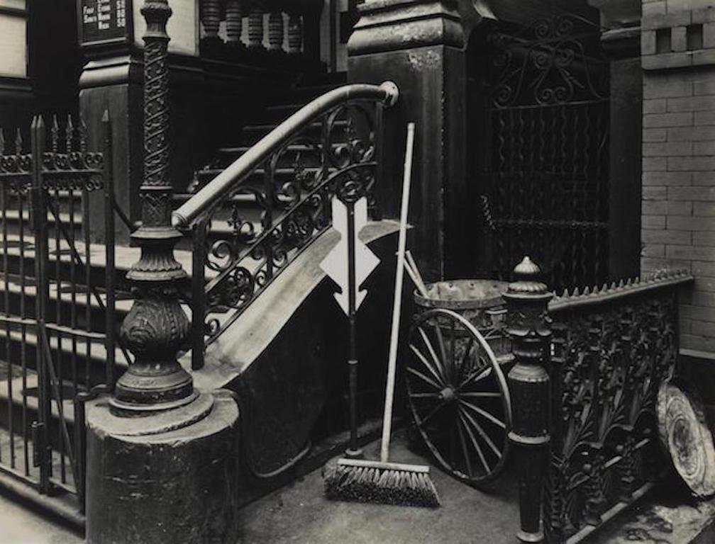 Stairway & Broom, New York Steps, 1945. Brett Weston. Silver Gelatin