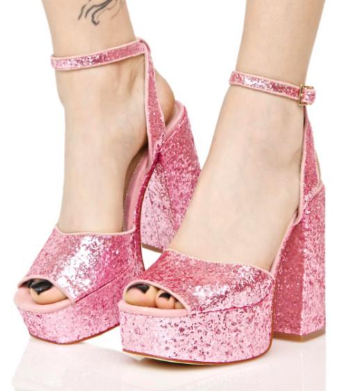 platform heels platform shoes pink shoes pink heels glitter shoes