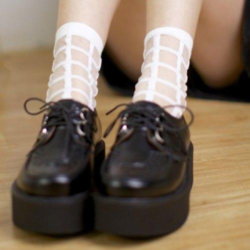 Aesthetic harajuku pastel goth fachin fashion under 10 under 5 nastydress free shipping socks Accessories