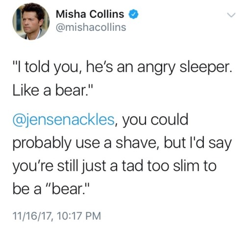 omg what misha collins jensen ackles cockles spn spoilers spn 13x06